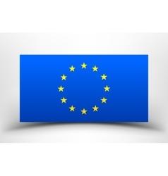 EU flag with soft shadow vector image