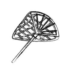 Fishing racket isolated vector