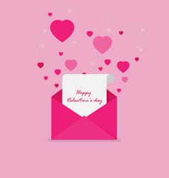 happy valentines day flat vector image
