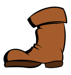 high boots icon cartoon vector image vector image