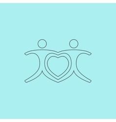 love people - heart vector image