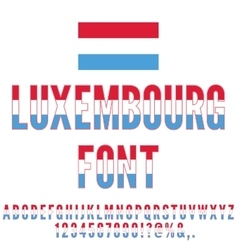Luxembourg Flag Font vector image vector image