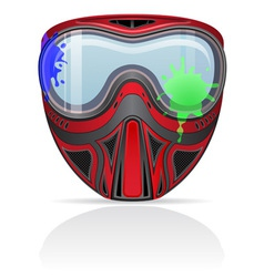 paintball mask 02 vector image vector image