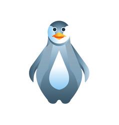 penguin bird stylized geometric animal low poly vector image vector image