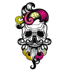 skull poster vector image