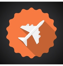 Travel Airport Airplane Flat icon background vector image vector image