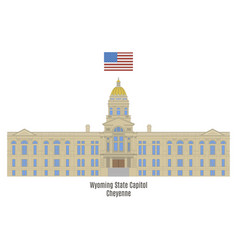 wyoming state capitol vector image