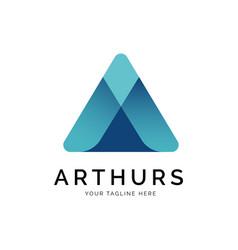 a letter logo concept creative minimal design vector image