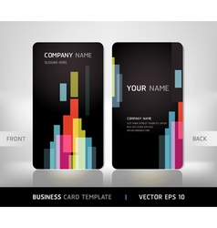 Abstract business card vector