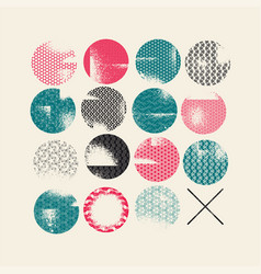 abstract geometric pattern grunge background vector image
