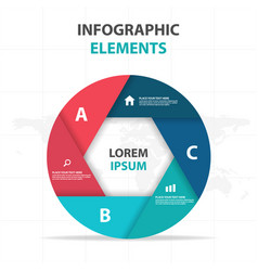 abstract hexagon circle business infographics vector image