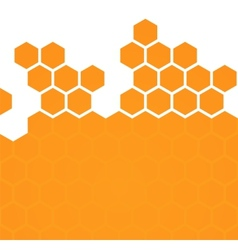 Abstract hexagonal honeycomb background vector