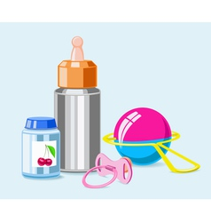 Accessories for breastfeeding vector image