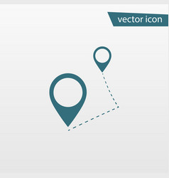 blue route icon isolated on background modern fla vector image