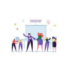 business people shaking hands partnership vector image