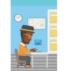 Businessman receiving or sending email vector image