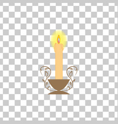 candle light on square vector image