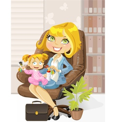 Caring business mother vector
