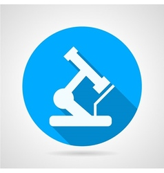 Circle icon for microscope vector image