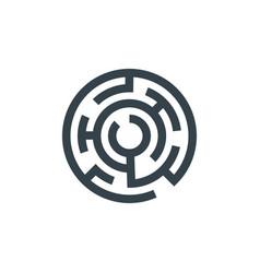 circle maze concept logotype template design vector image