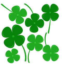 Clovers sign of hope believe love and lucky vector