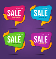 Collection of sale labels price tags bannesr vector