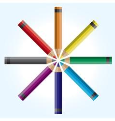 Colorwheel Pencils vector image
