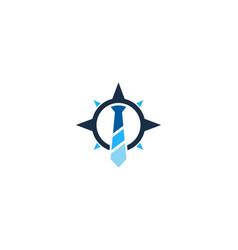 Compass job logo icon design vector