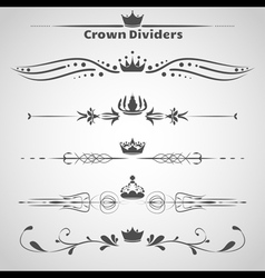 Crown Dividers Set copy vector