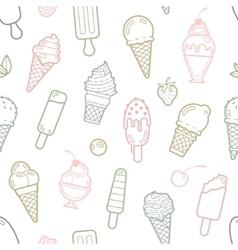 Cute pastel ice cream seamless pattern vector