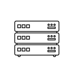database icon server vector image