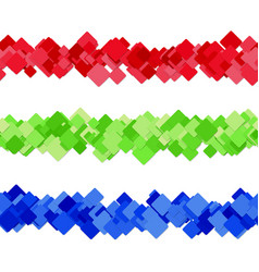 Diagonal square pattern page separator line vector