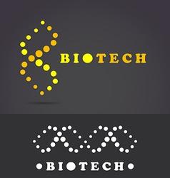 DNA molecular helix icon vector