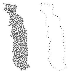 Dot contour map of togo vector