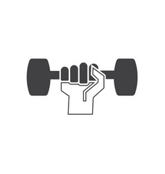 dumbbell icon design template isolated vector image