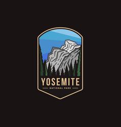 emblem patch logo yosemite national park vector image