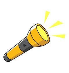 flashlight vector image