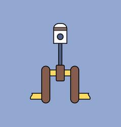 Flat icon design collection piston scheme vector