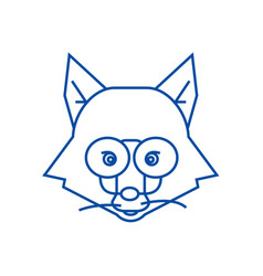 fox head sign line icon concept fox head sign vector image