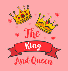 Glamour king queen crown doodles vector