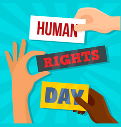 Global rights day concept background flat style vector