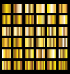gold gradient golden metal squares vector image