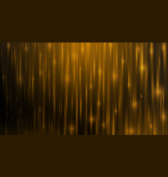 Golden line background with bright aura spark in vector