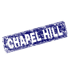 Grunge chapel hill framed rounded rectangle stamp vector