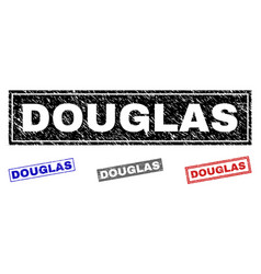 Grunge douglas scratched rectangle watermarks vector