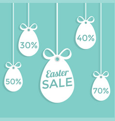 happy easter sale flat style vector image