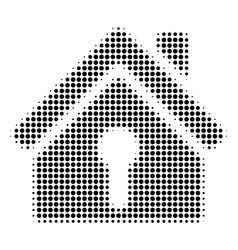 home keyhole halftone icon vector image