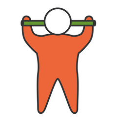 Human silhouette lifting bar vector