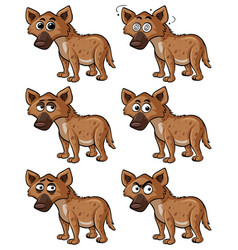 Hyena with different facial expressions vector