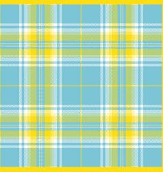 light blue and yellow tartan plaid pattern vector image
